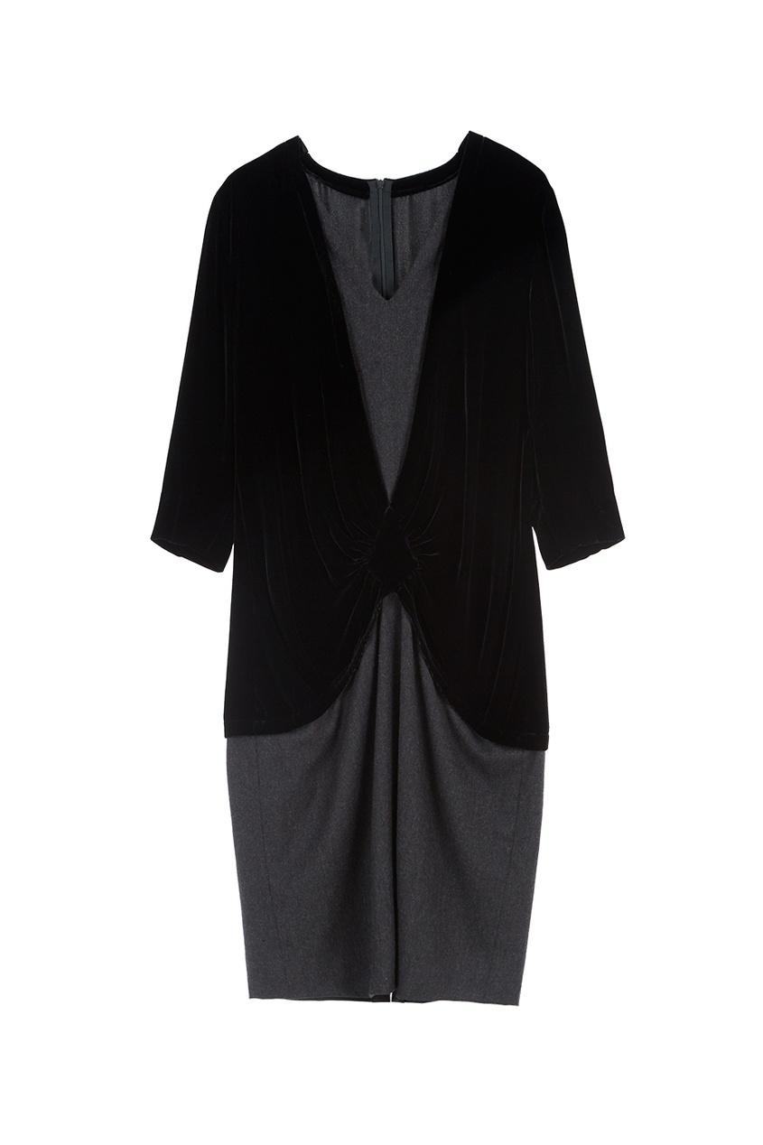 Платье из шерсти и хлопка