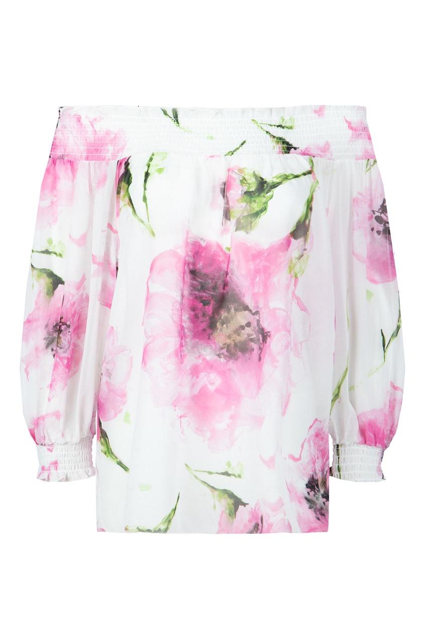 женская блузка blugirl, розовая
