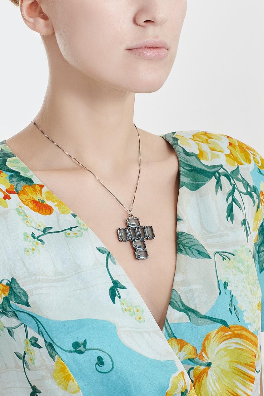 Винтажный крест на цепочке (70-е)