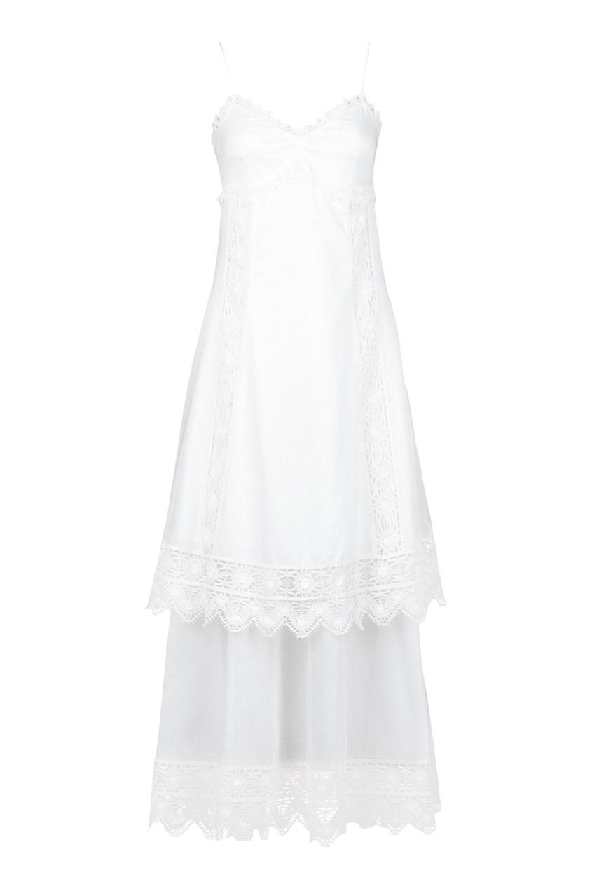 женский сарафан blumarine, белый