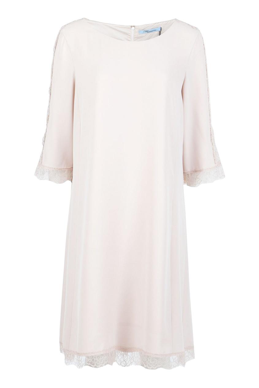женское платье blumarine, бежевое