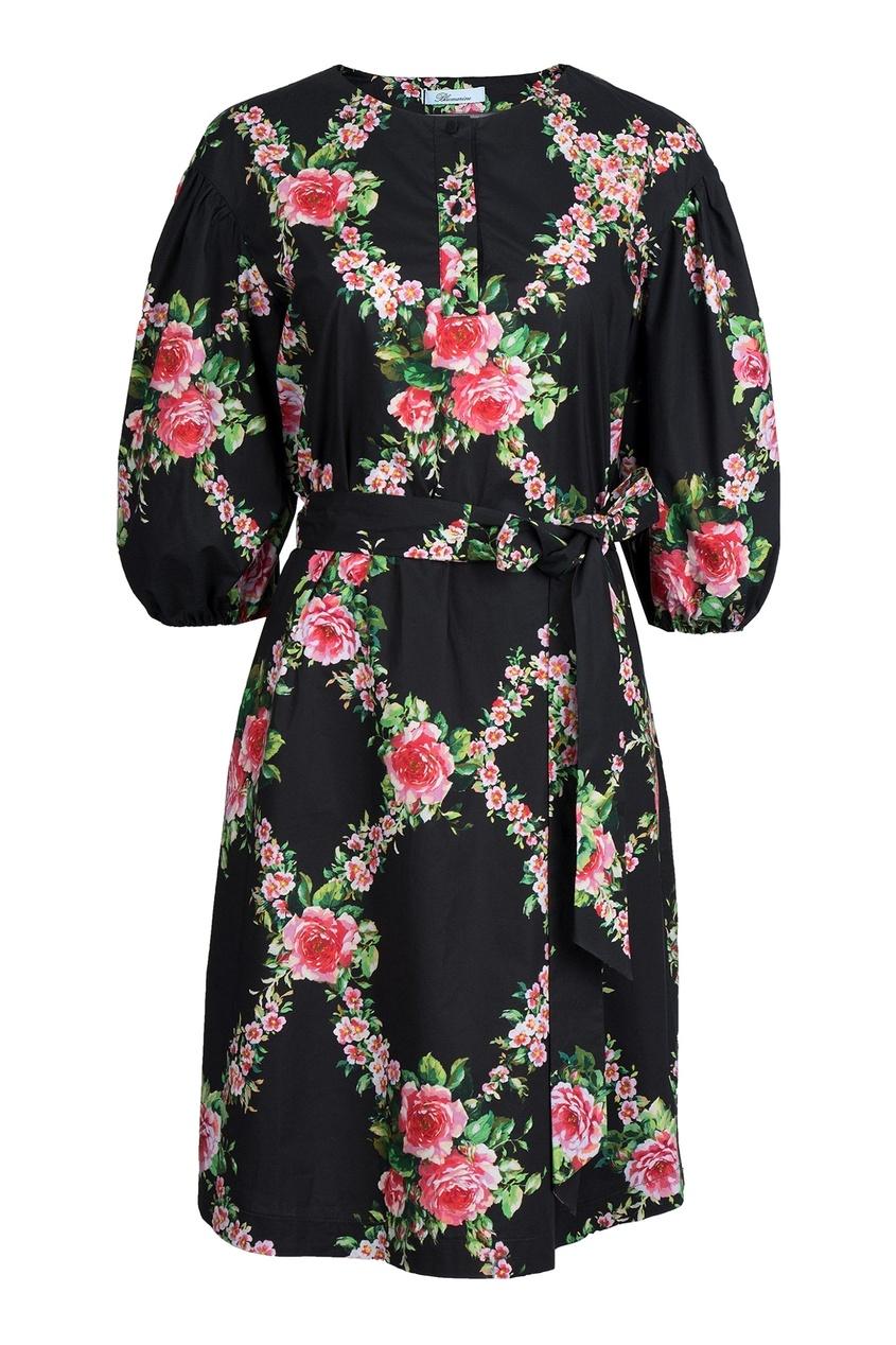 женское платье blumarine, черное