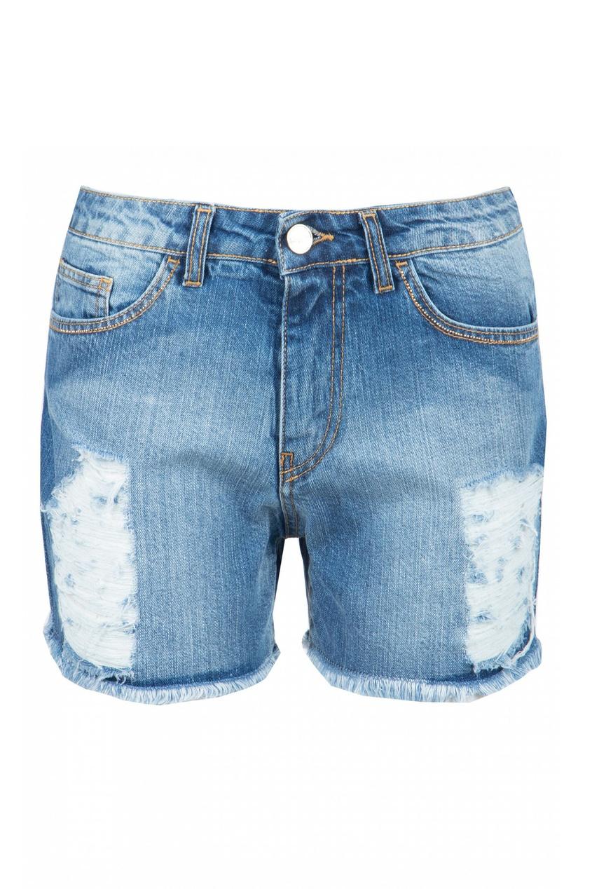 женские шорты blugirl, голубые