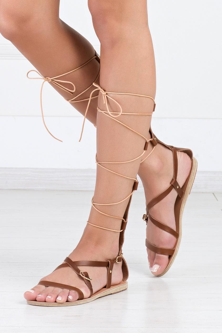 Ancient Greek Sandals Кожаные сандалии Sofia High