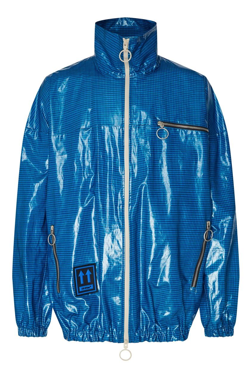 мужская куртка off-white, синяя