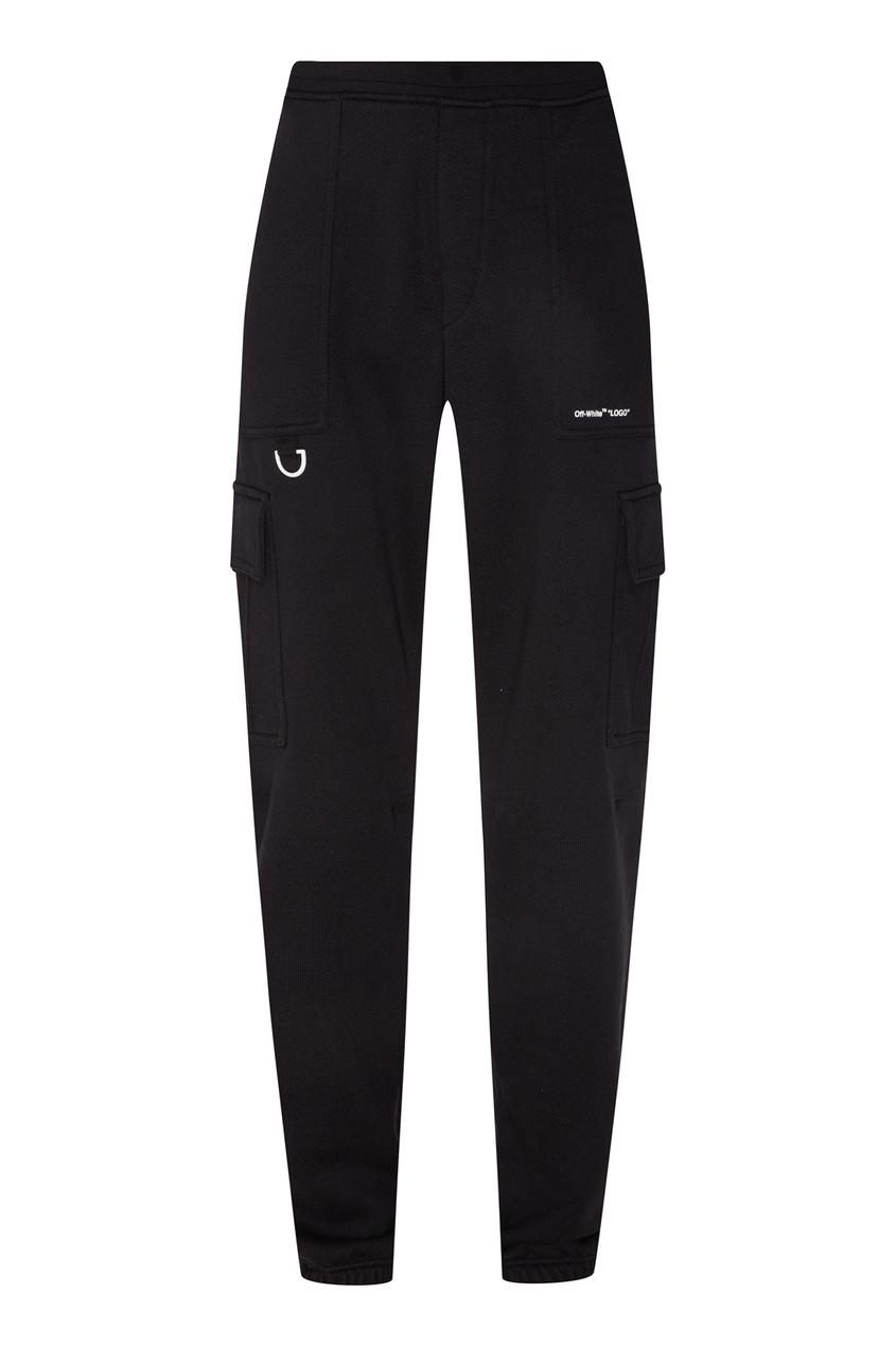 мужские брюки off-white, черные