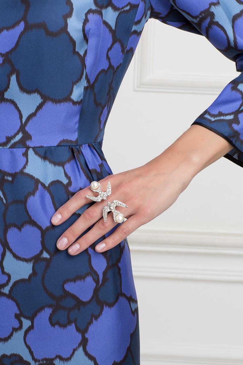 Кольцо из латуни с серебряным напылением