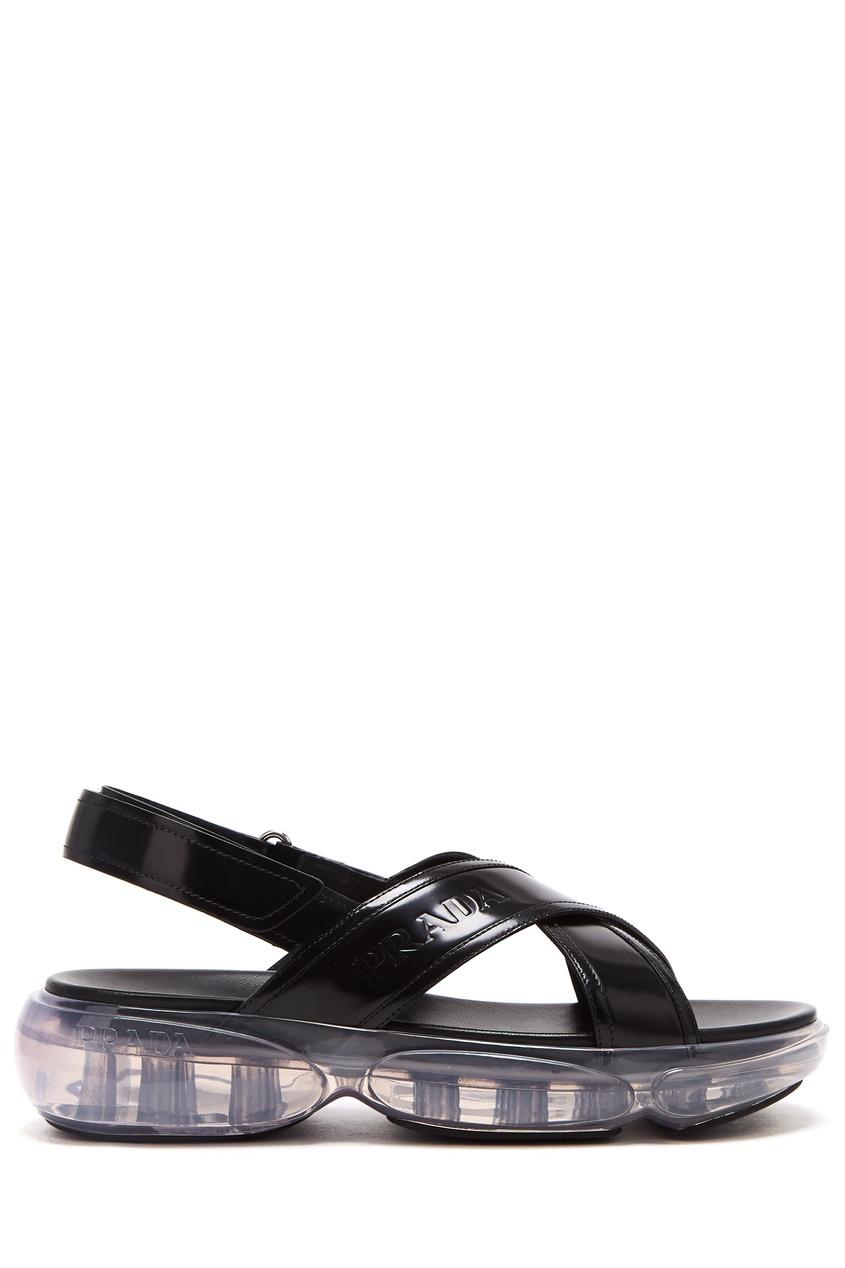 Черные сандалии Cloudbust от Prada