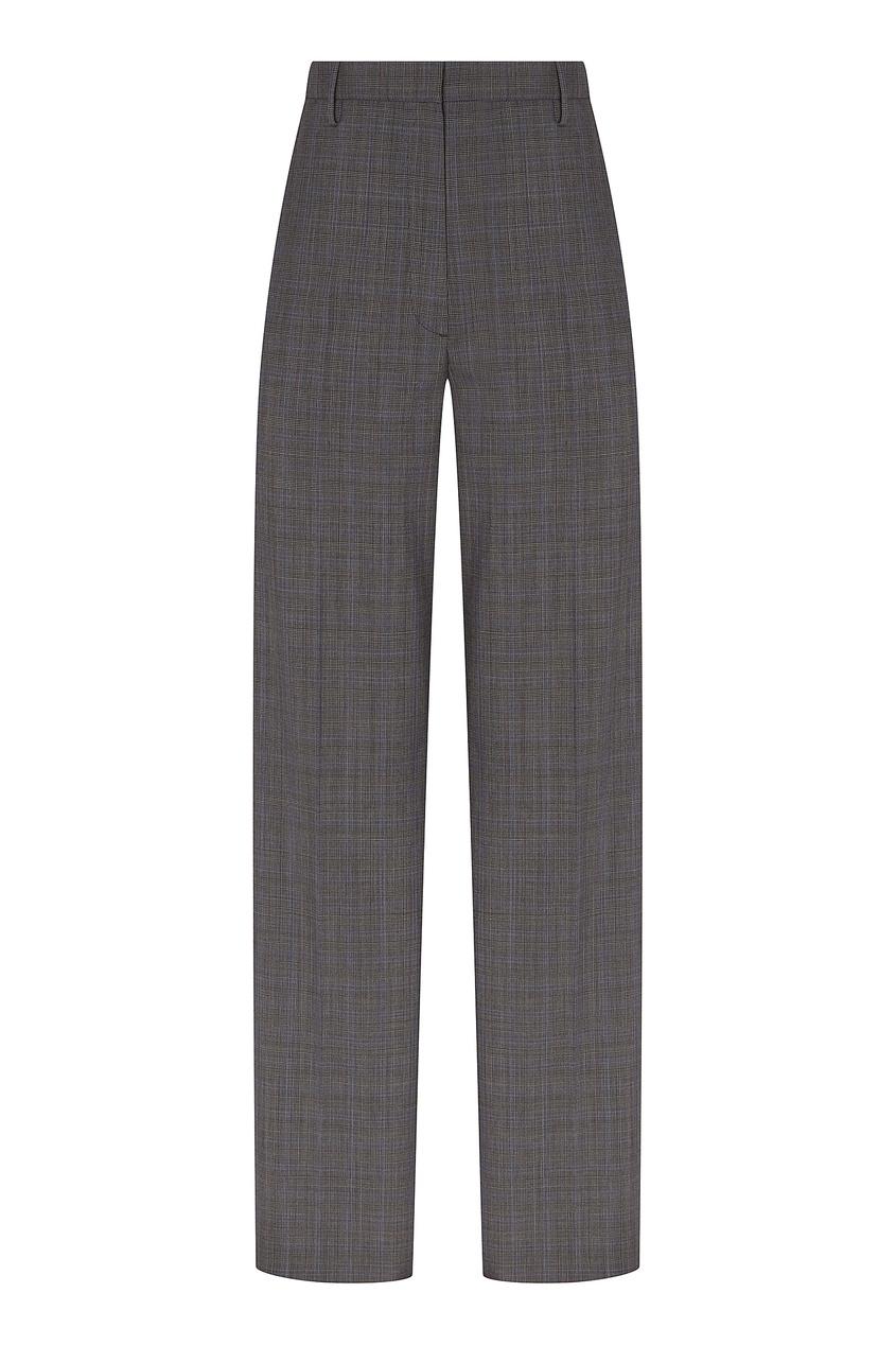 женские брюки prada, серые