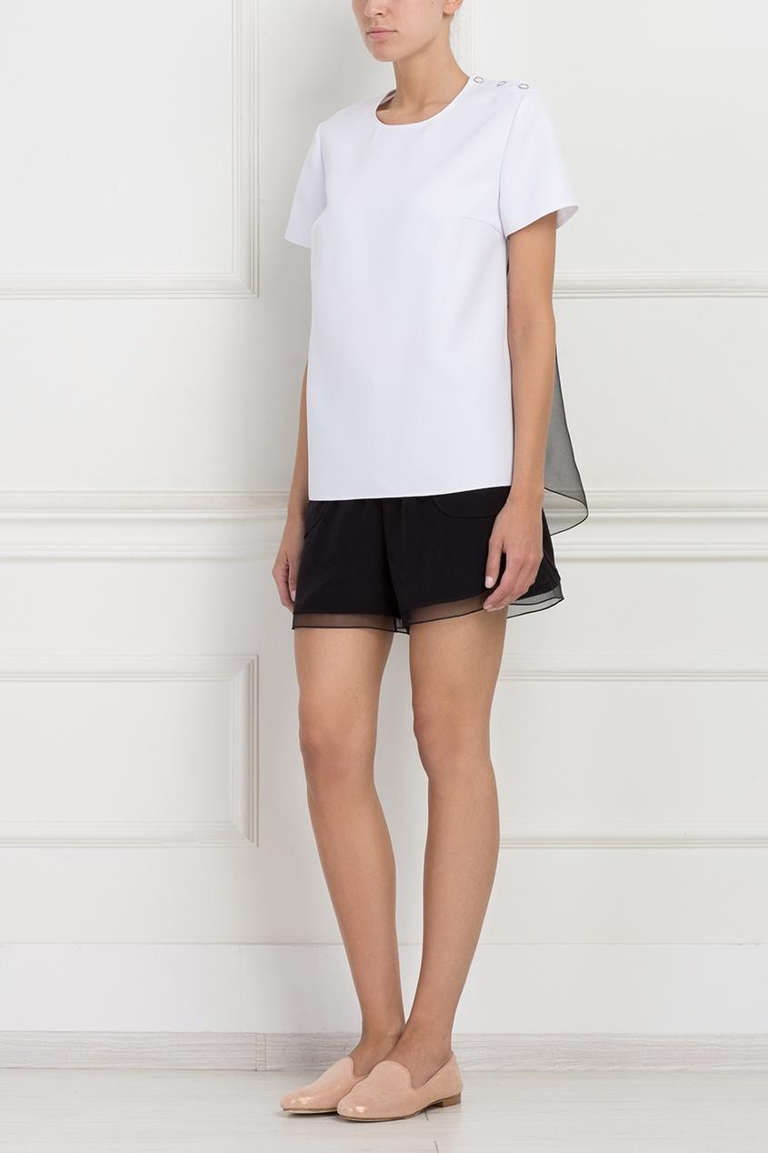 Шелковые шорты ARnouveau. Цвет: черный