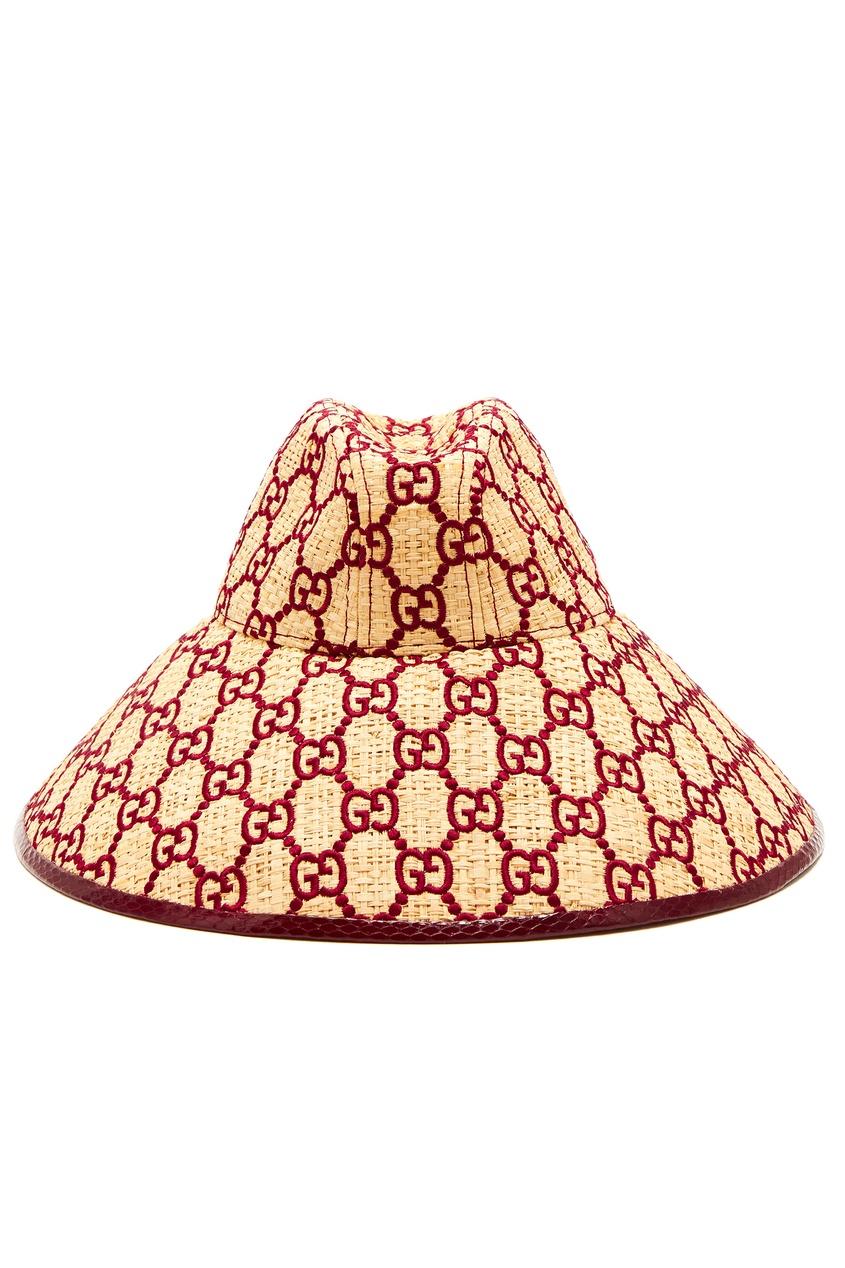 Соломенная шляпа-панама от Gucci