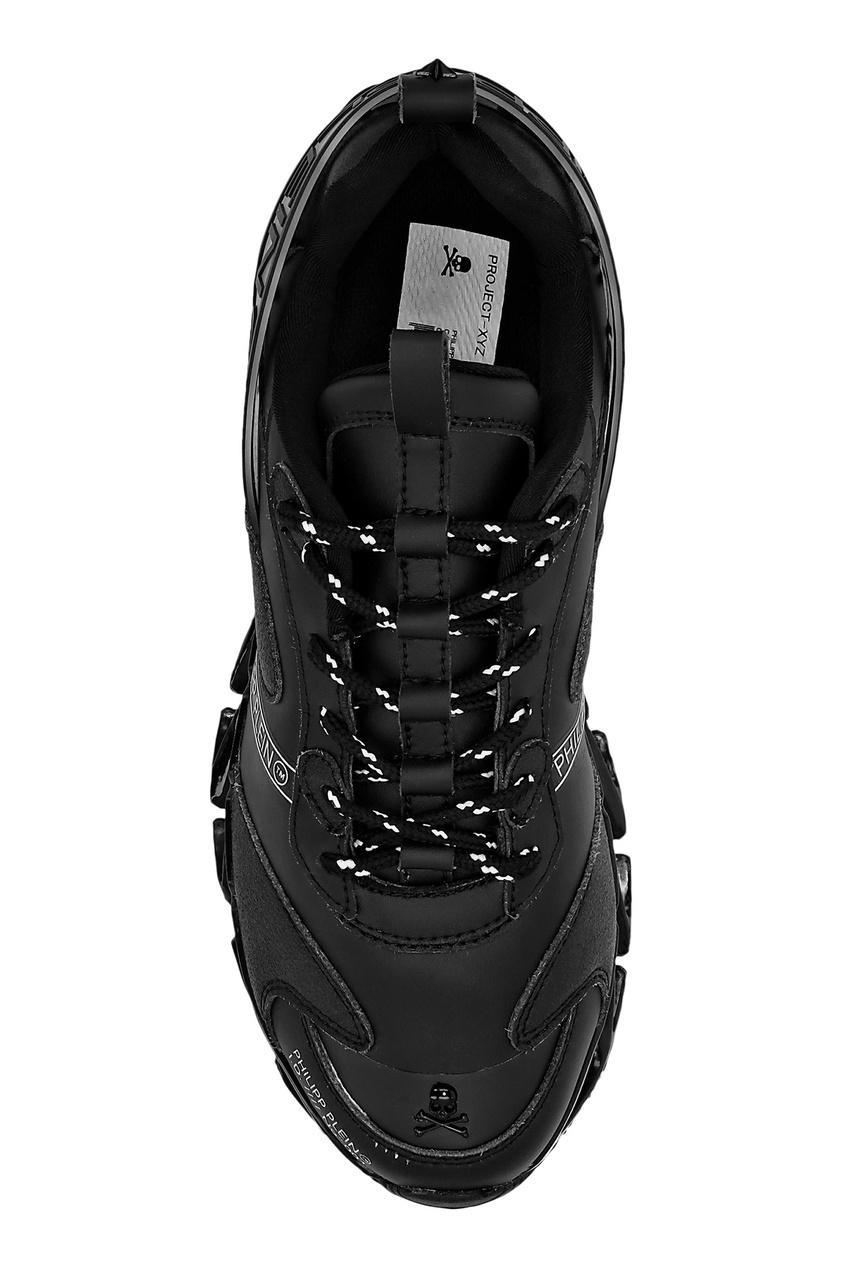 мужские кроссовки philipp plein, черные