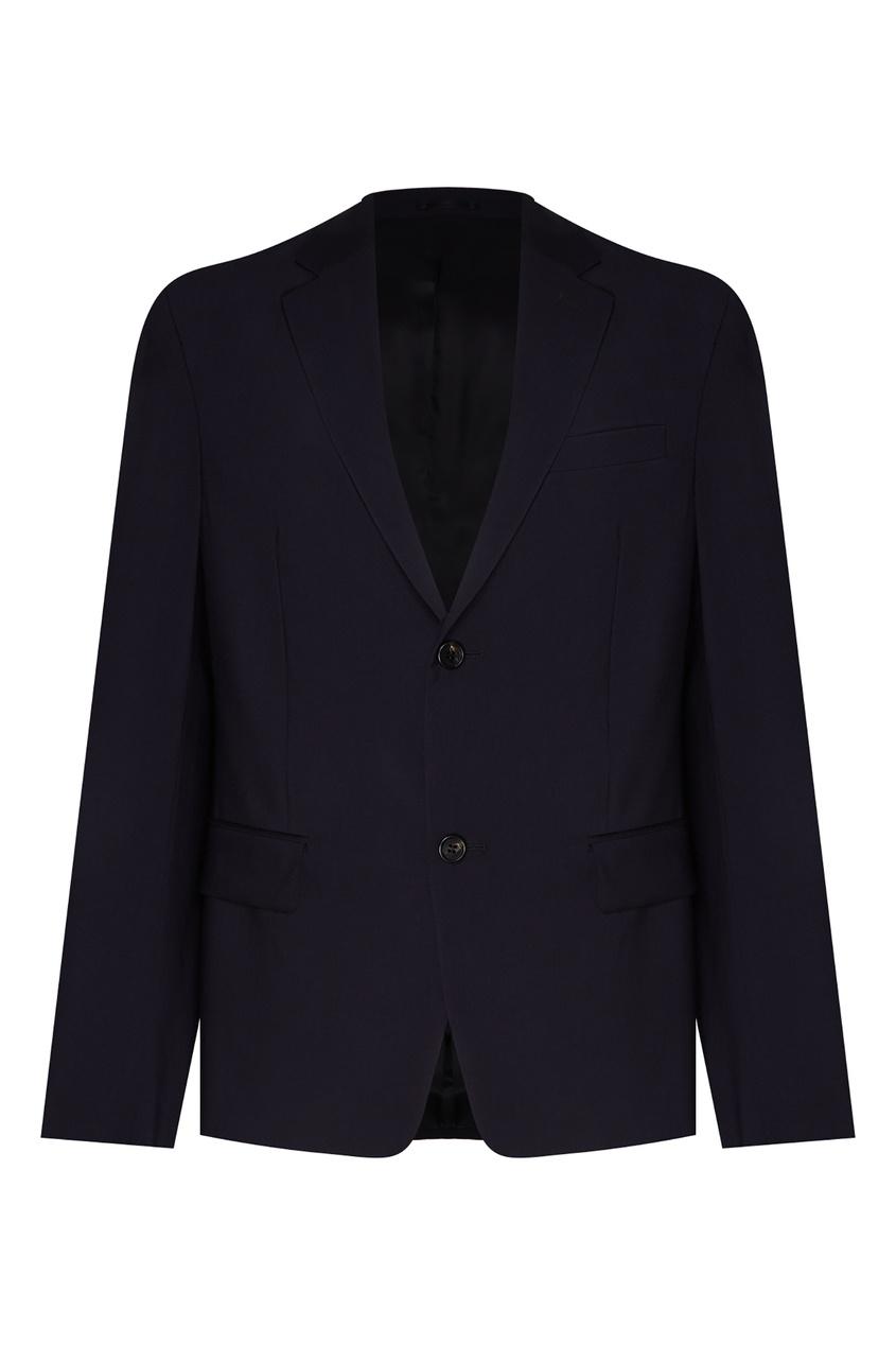 Темно-синий костюмный пиджак от Prada