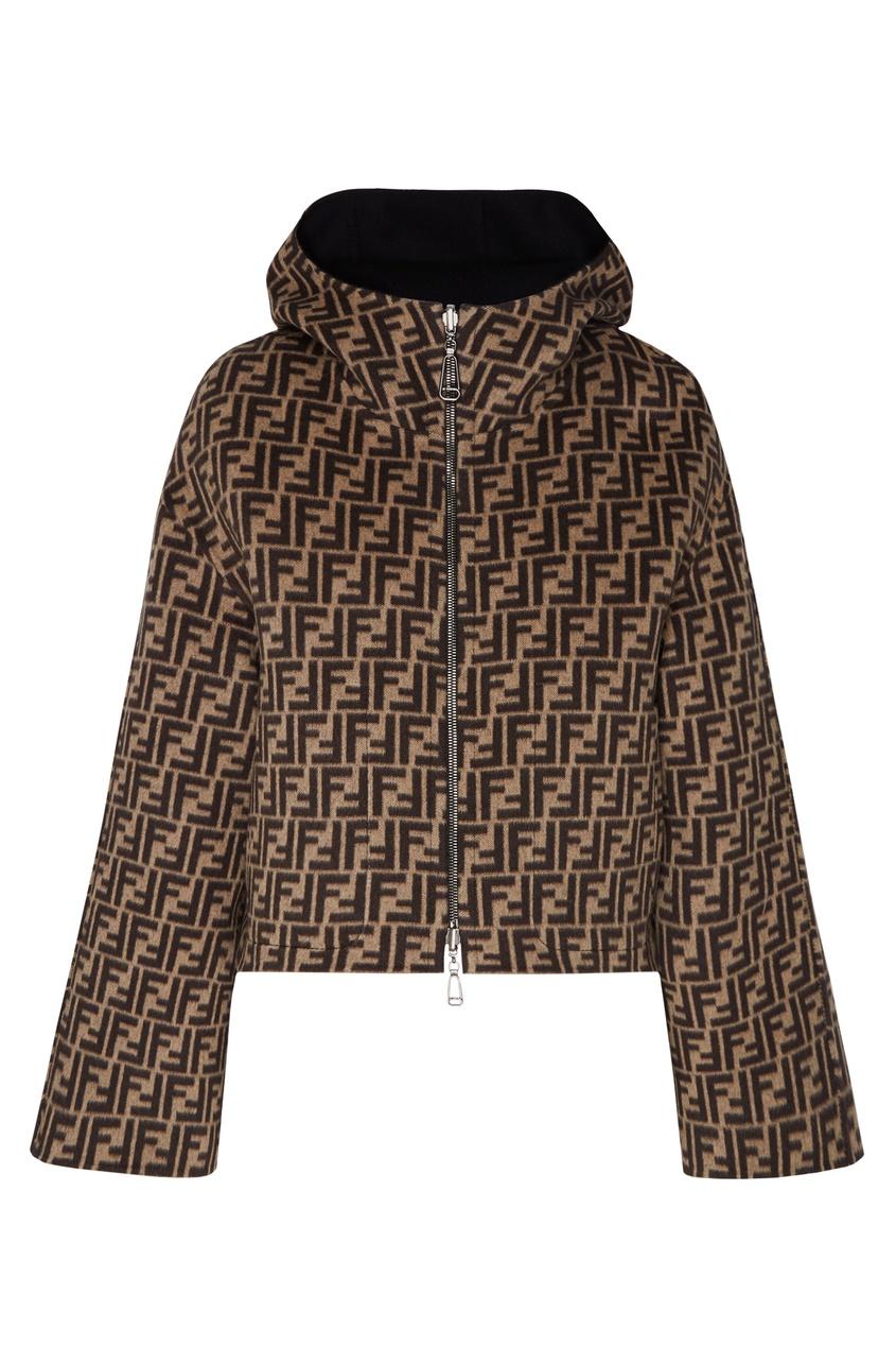 женская куртка fendi, черная