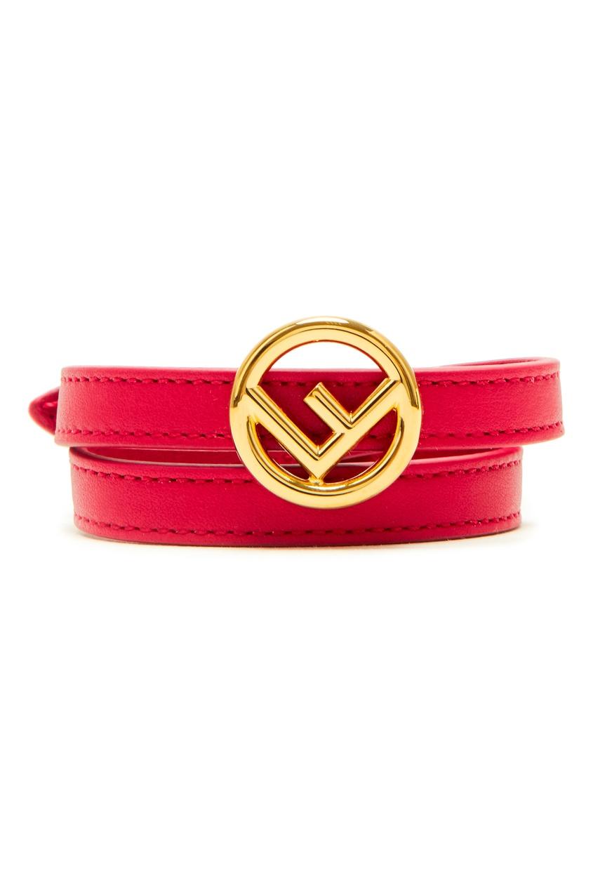 Кожаный браслет с логотипом от Fendi
