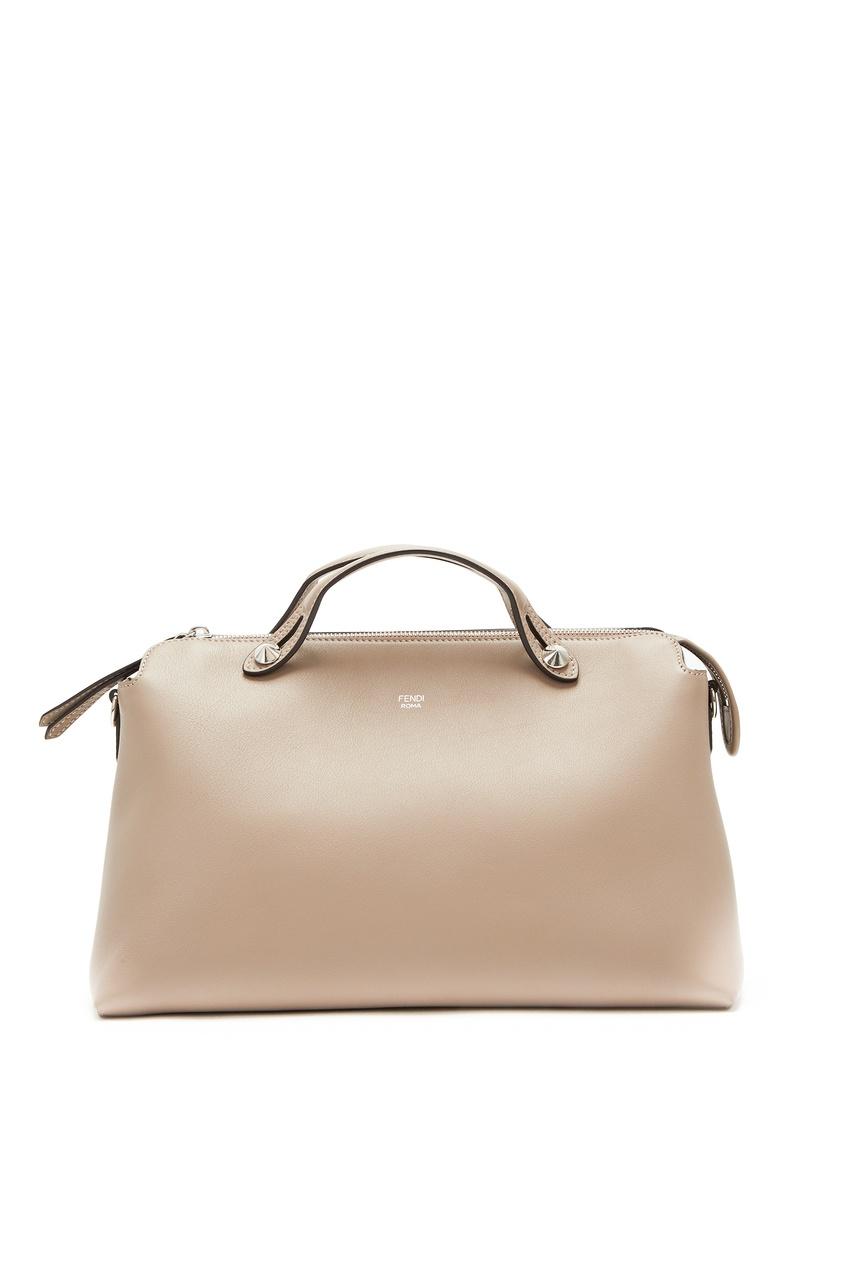 женская сумка fendi, бежевая