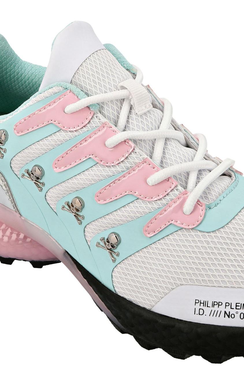 мужские кроссовки philipp plein, розовые