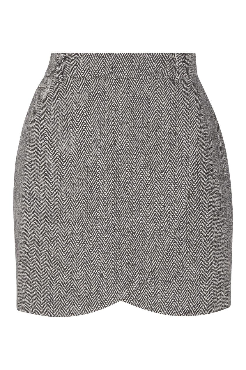 Темно-серая мини-юбка