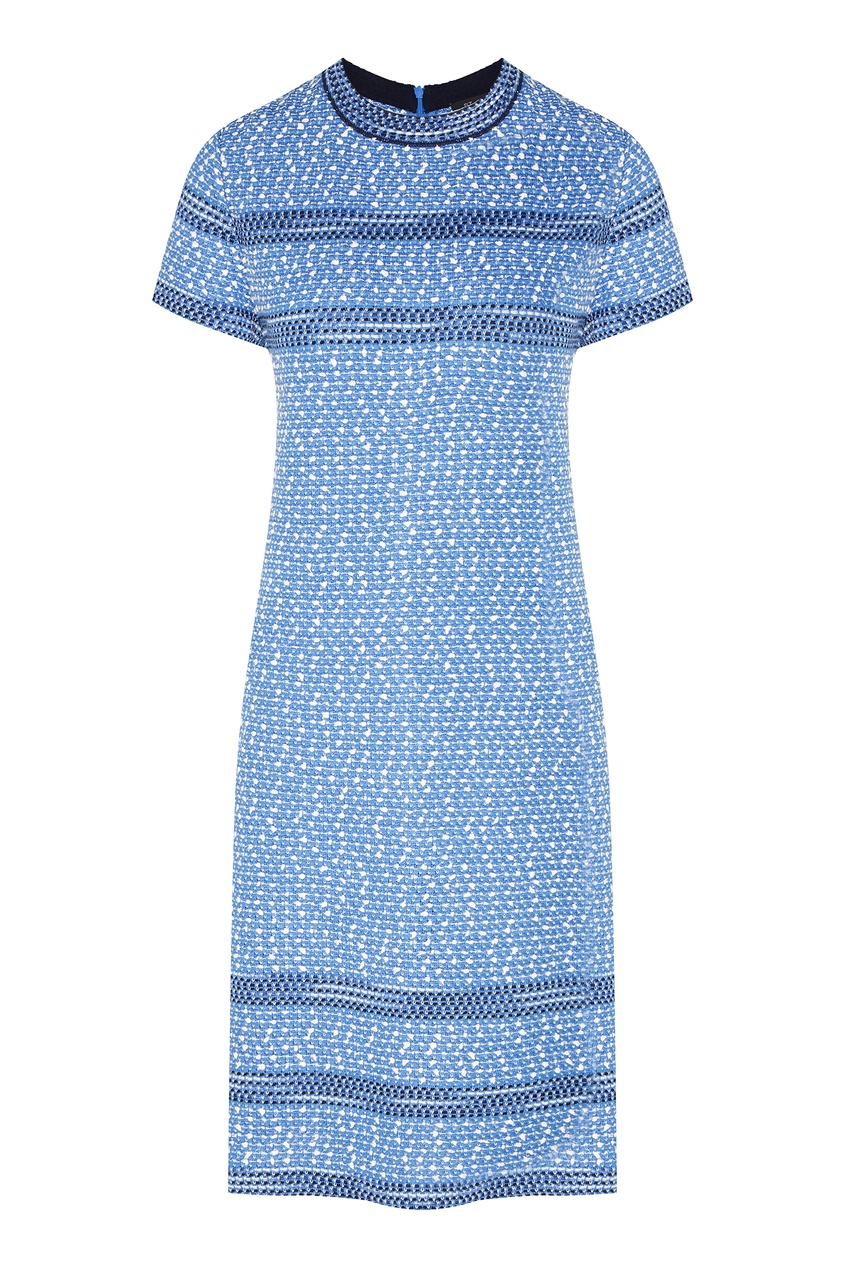 Фактурное платье голубого цвета от St. John