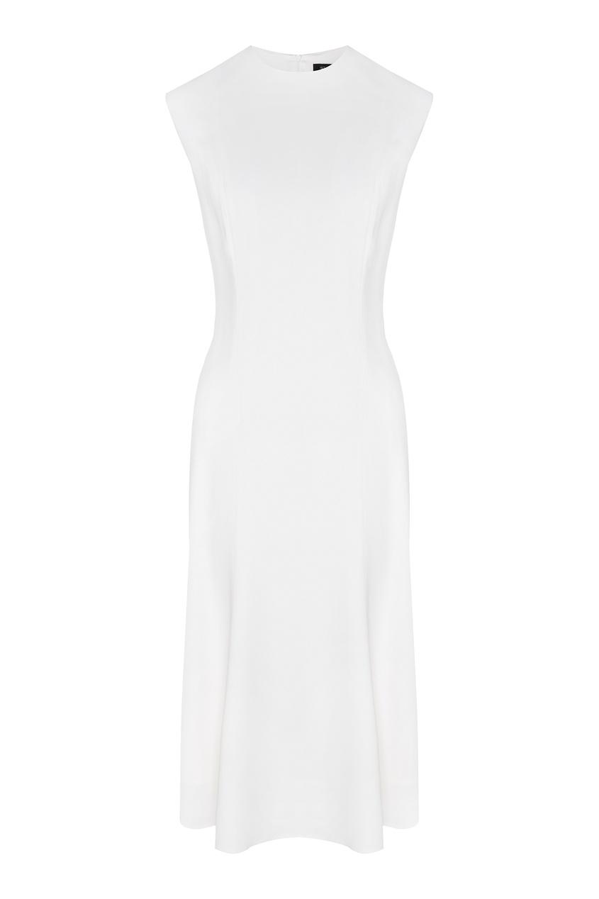 Белое платье из вискозы от St. John