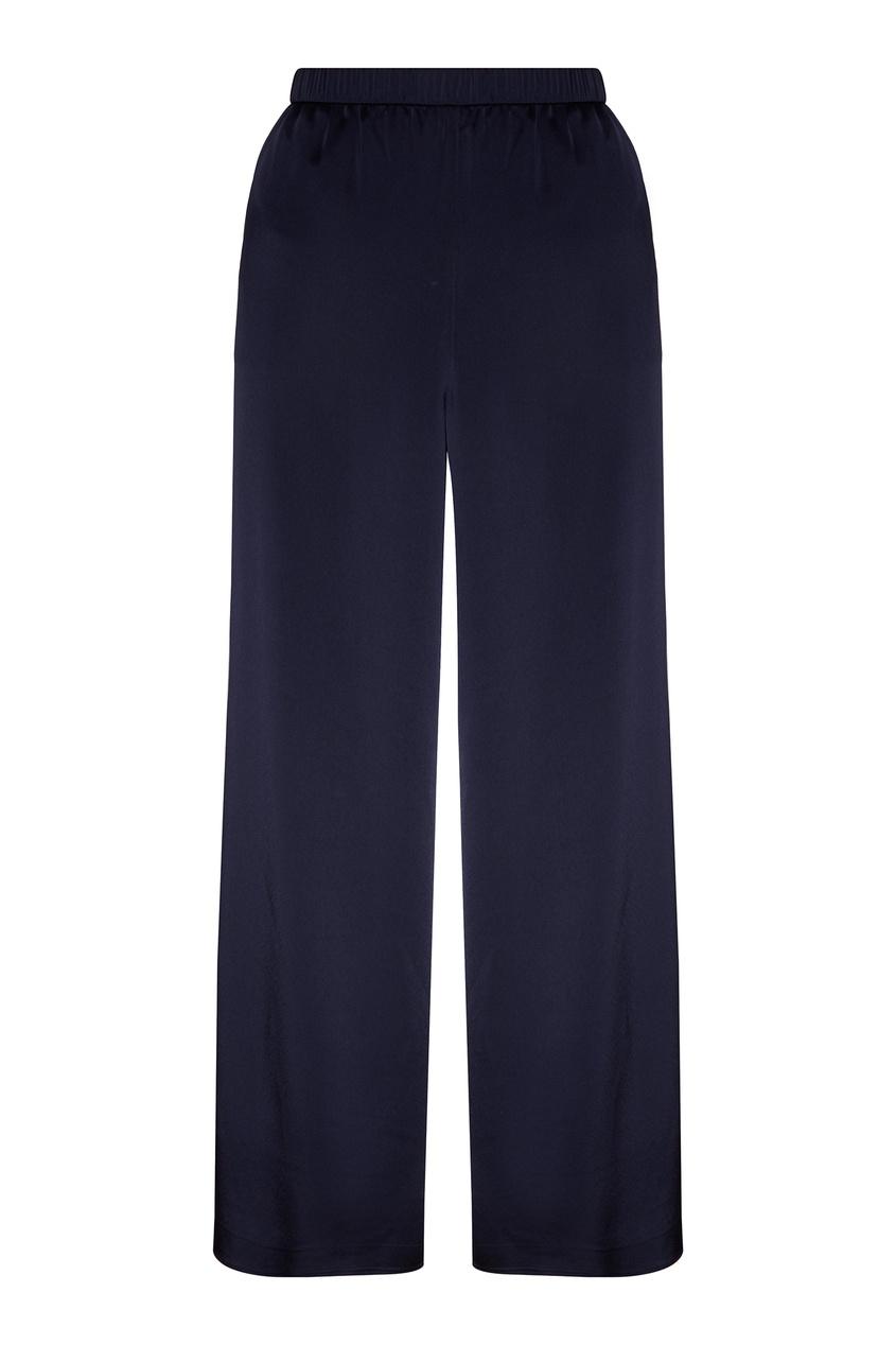 Блестящие брюки с эластичным поясом от St. John