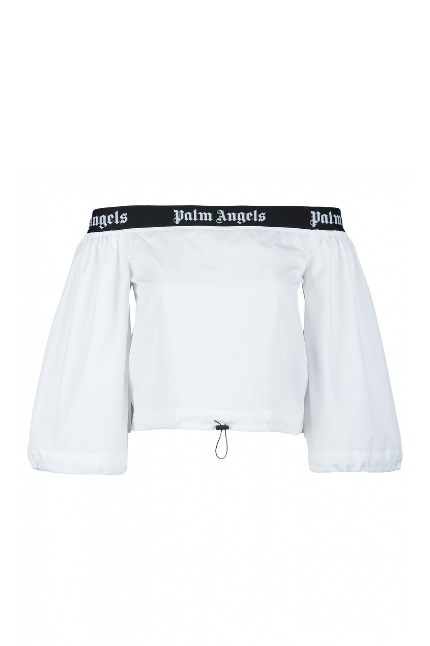 женская блузка palm angels, белая