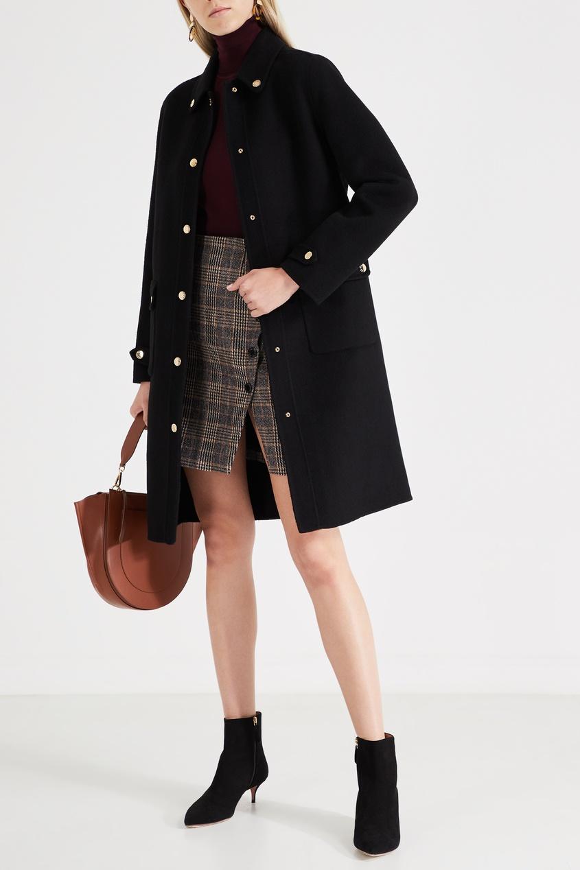 Sandro / Черное шерстяное пальто
