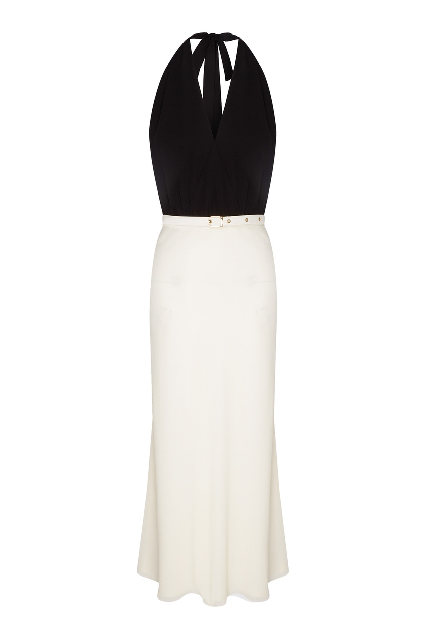 женское платье с открытой спиной laroom, белое