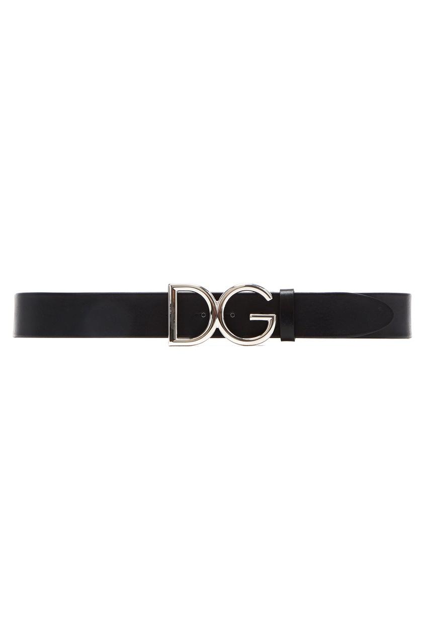 Кожаный ремень с пряжкой Dolce&Gabbana