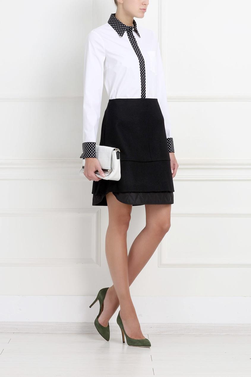 Jil Sander Navy Шерстяная юбка