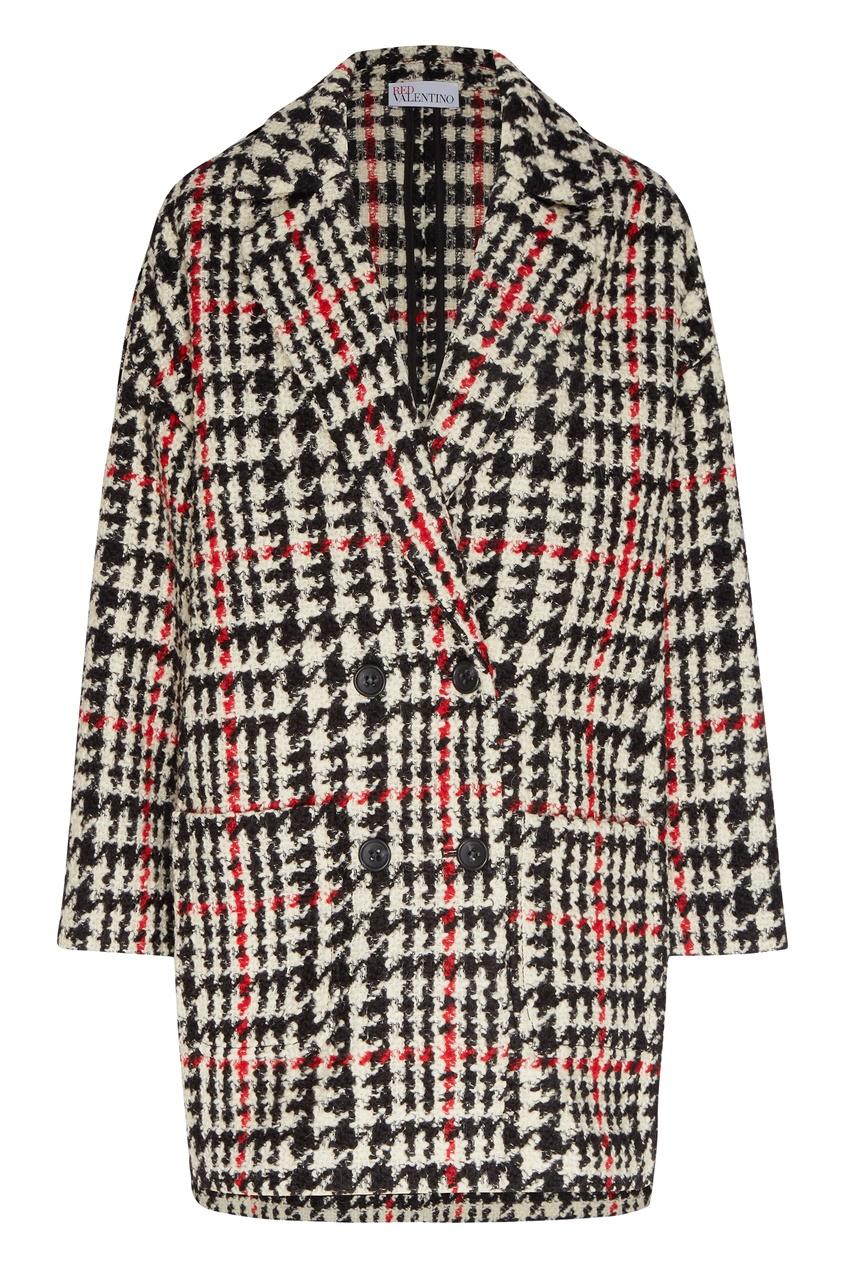 женское пальто red valentino, белое