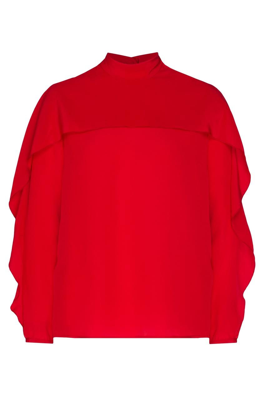 женская блузка red valentino, красная