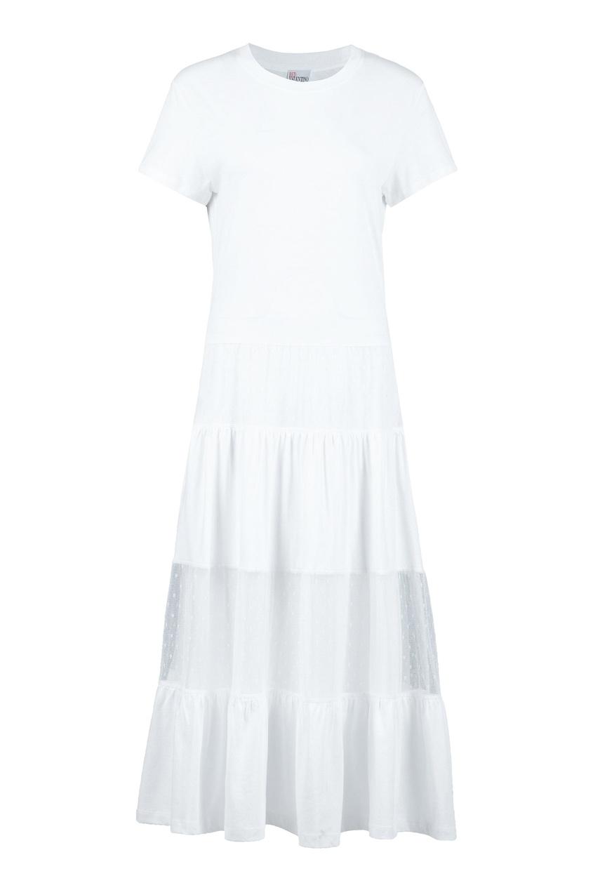женское платье red valentino, белое