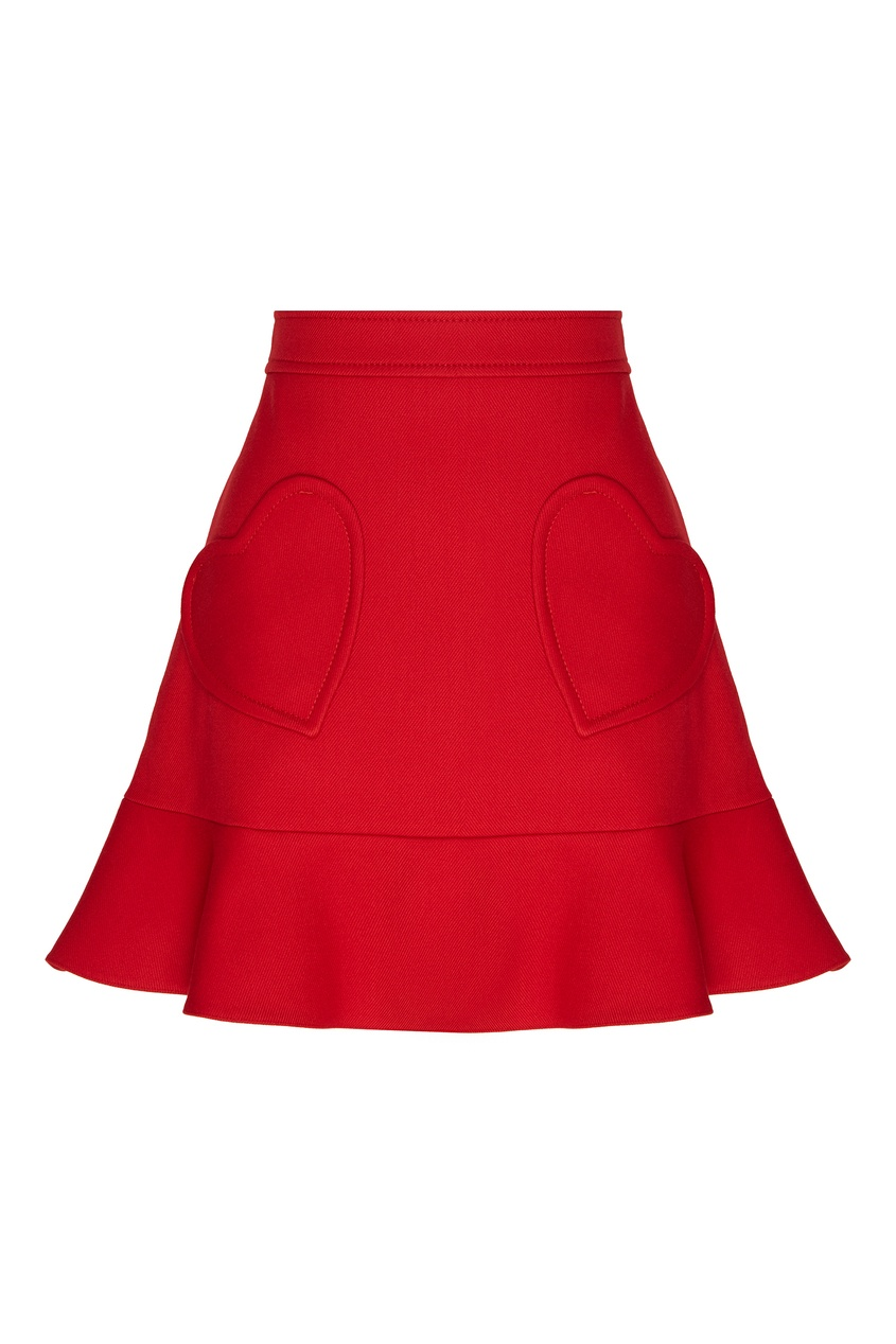 женская юбка red valentino, красная