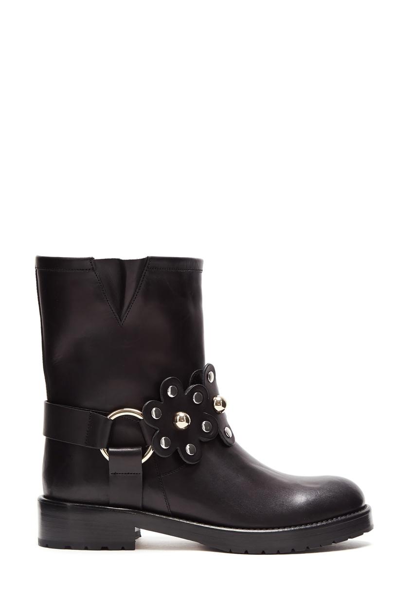 женские ботинки red valentino, черные