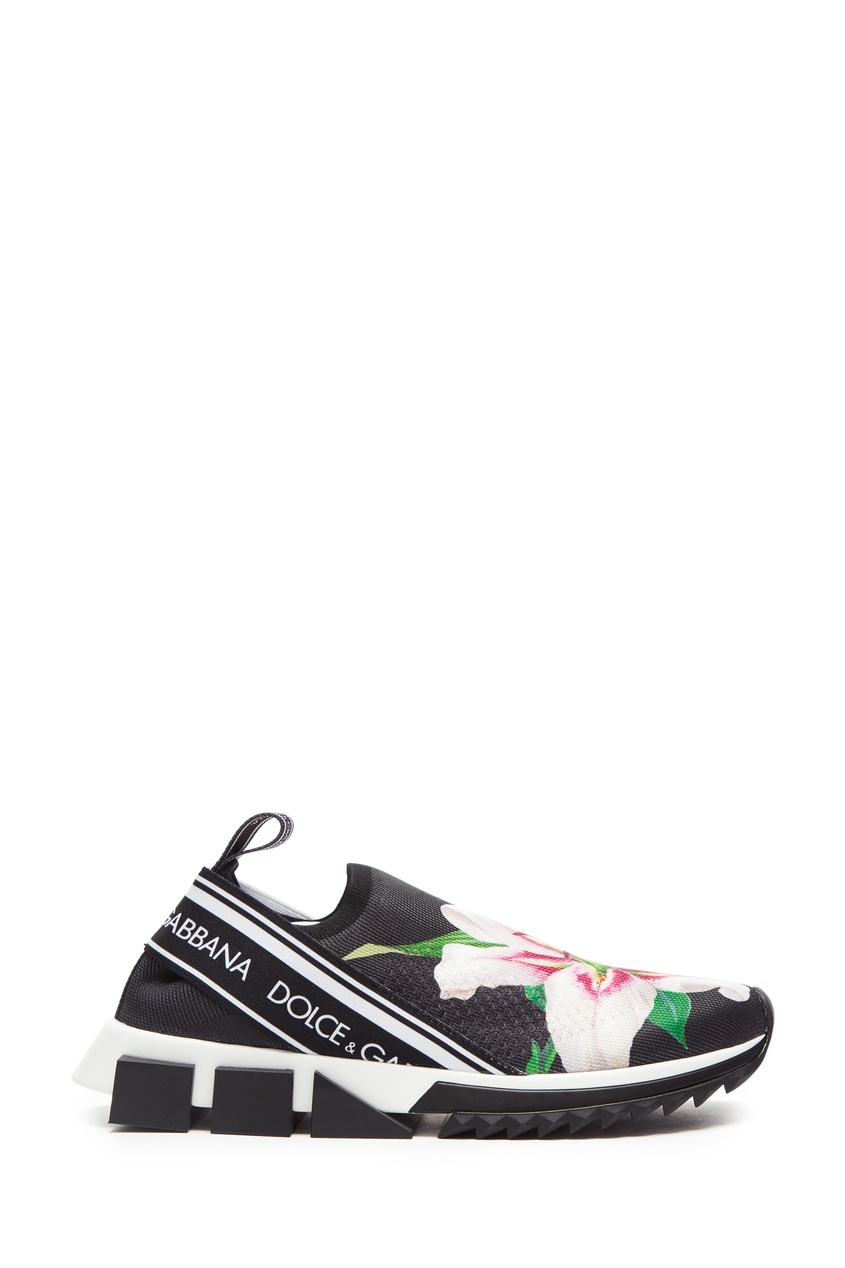 женские кроссовки dolce & gabbana, черные