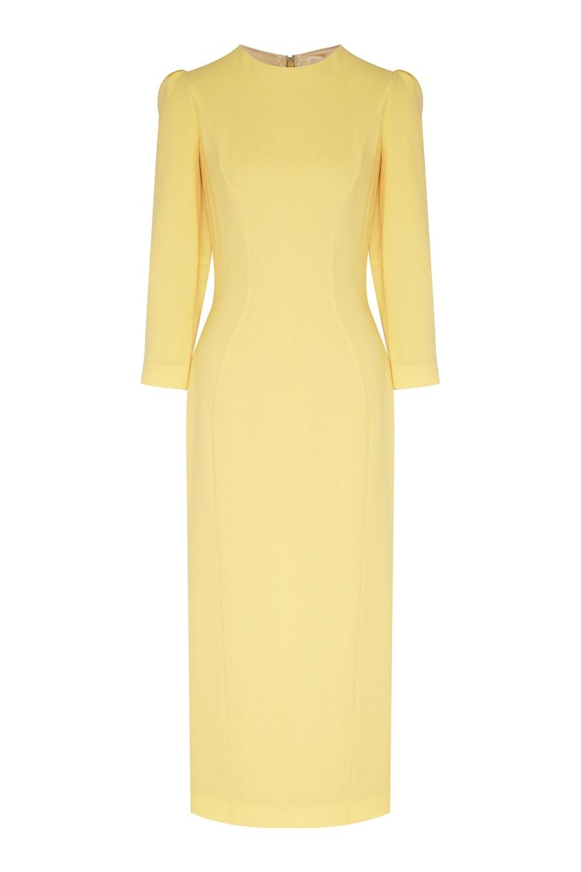 женское платье ulyana sergeenko, желтое