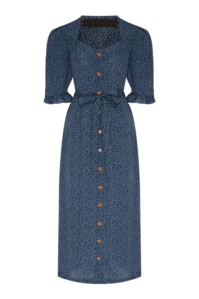 женское платье ulyana sergeenko, синее