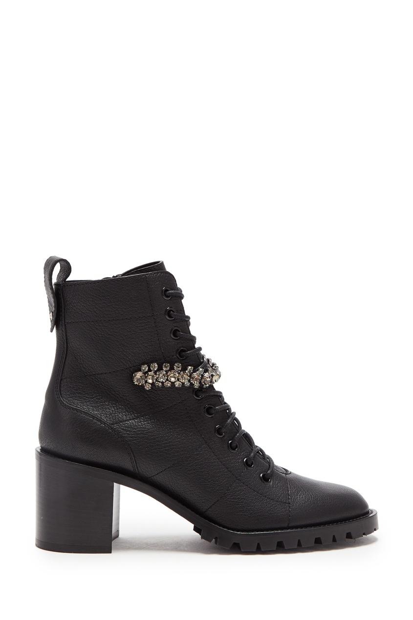 Черные ботинки Cruz 65 с кристаллами от Jimmy Choo