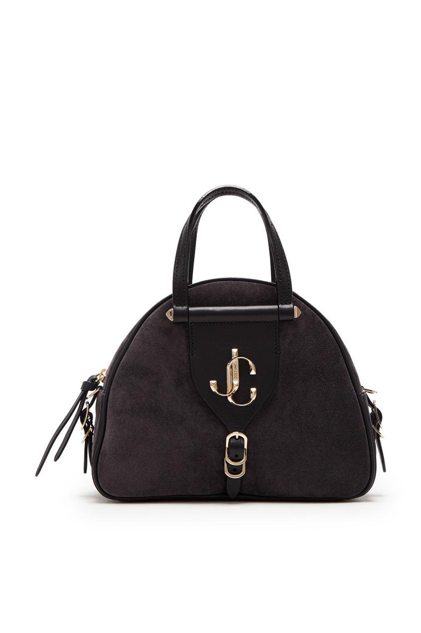 Черная кожаная сумка Varenne от Jimmy Choo