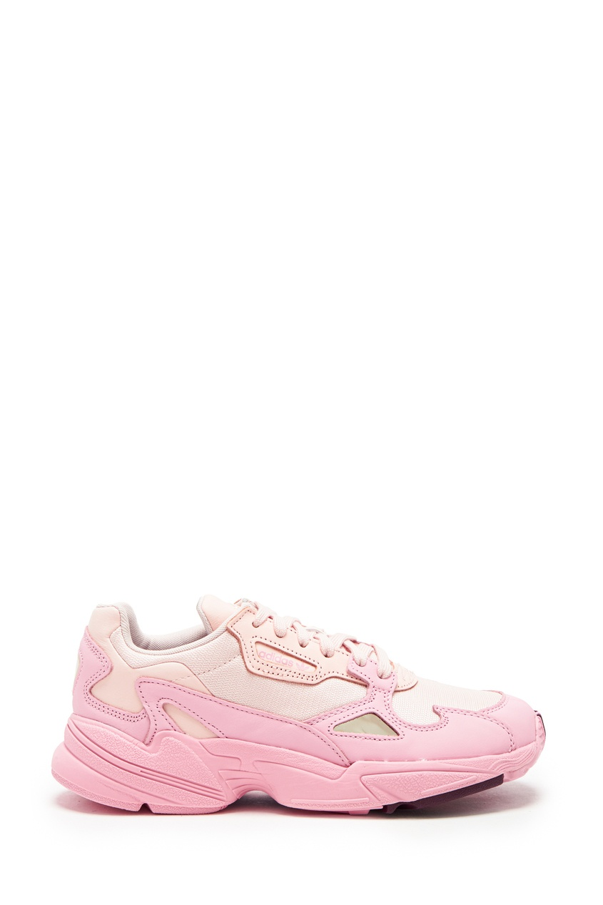 Розово-белые кроссовки Falcon от Adidas