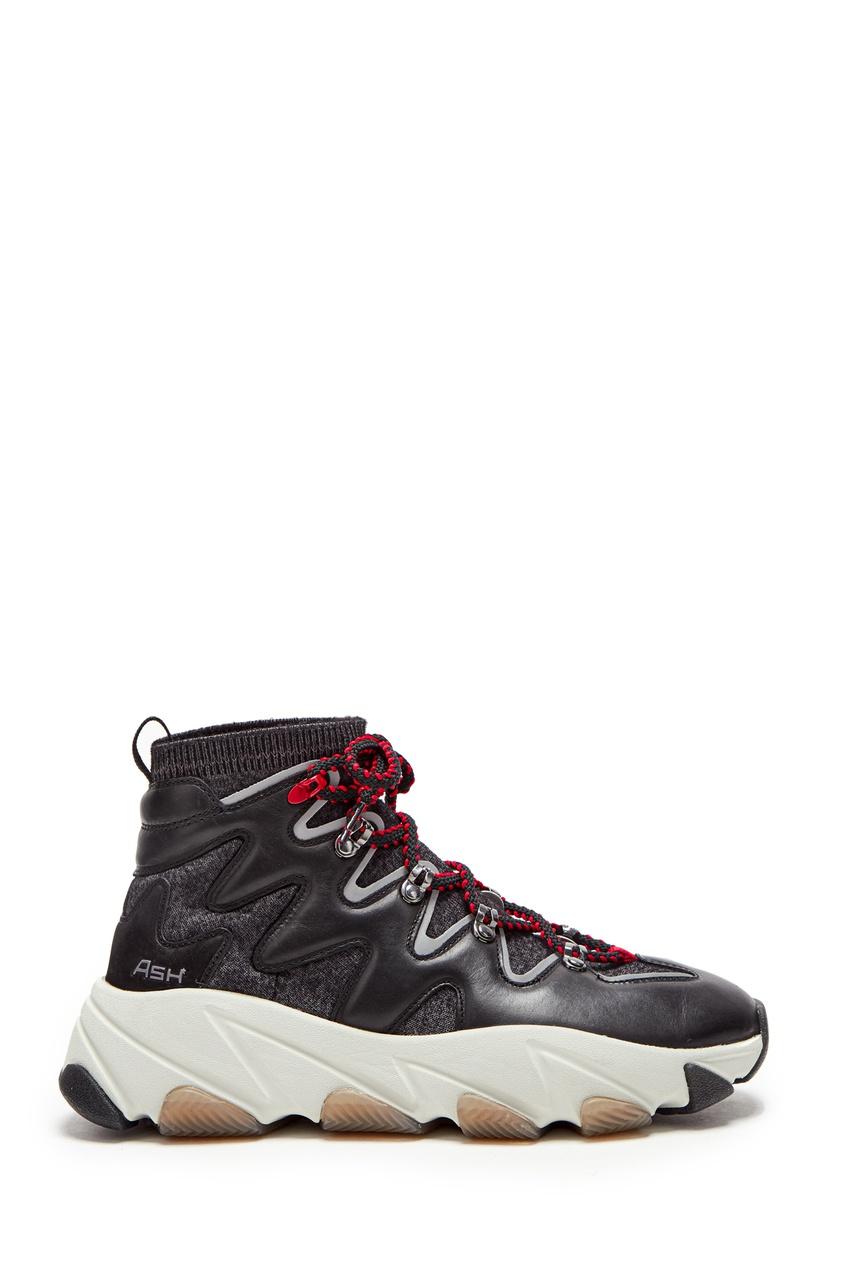 Высокие кроссовки с контрастной шнуровкой Escape