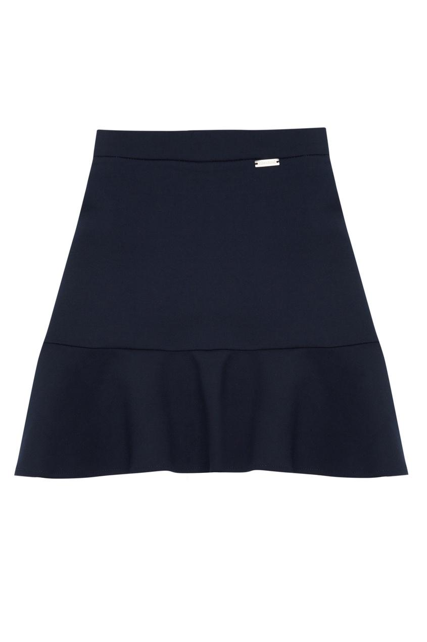 Короткая юбка с оборкой