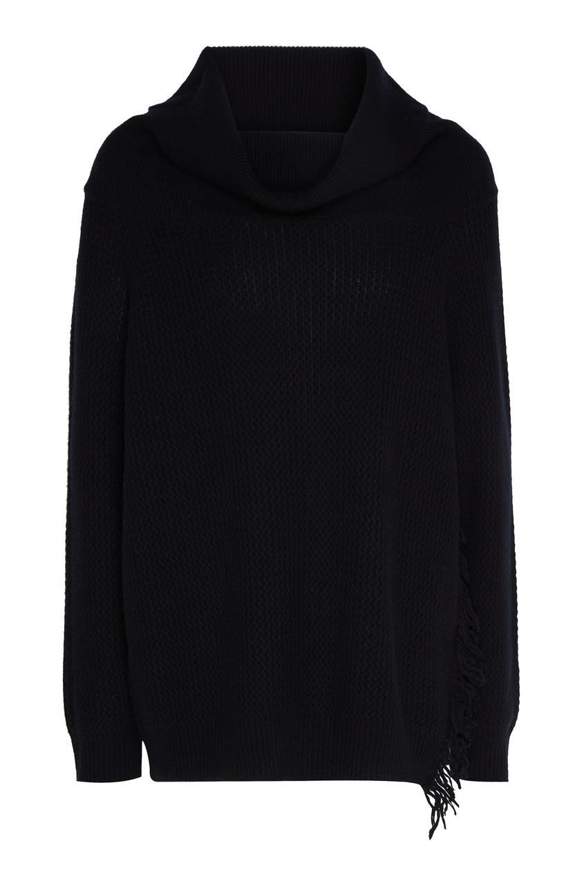 Черный свитер с хомутом