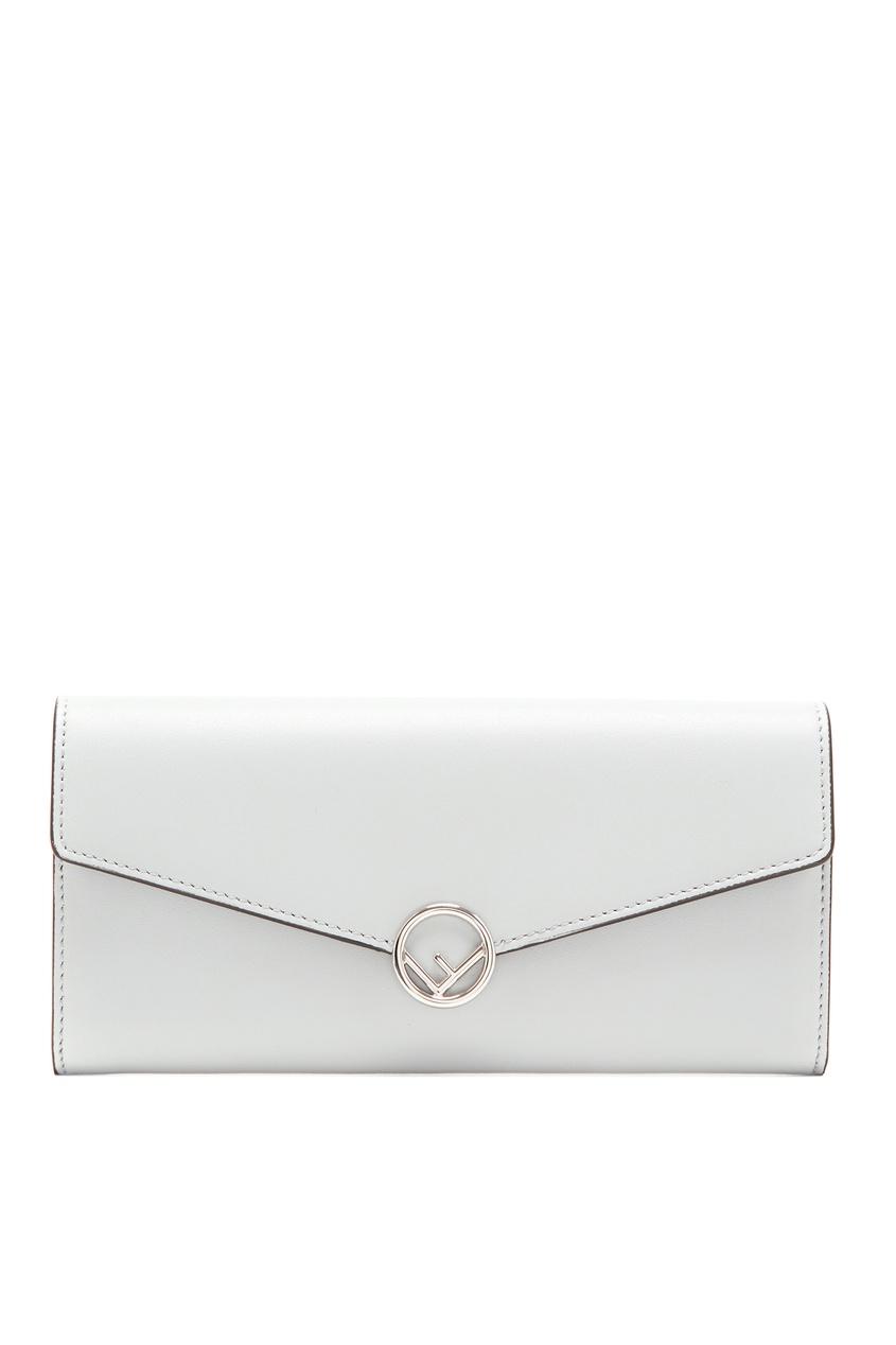женский кошелёк fendi, серый