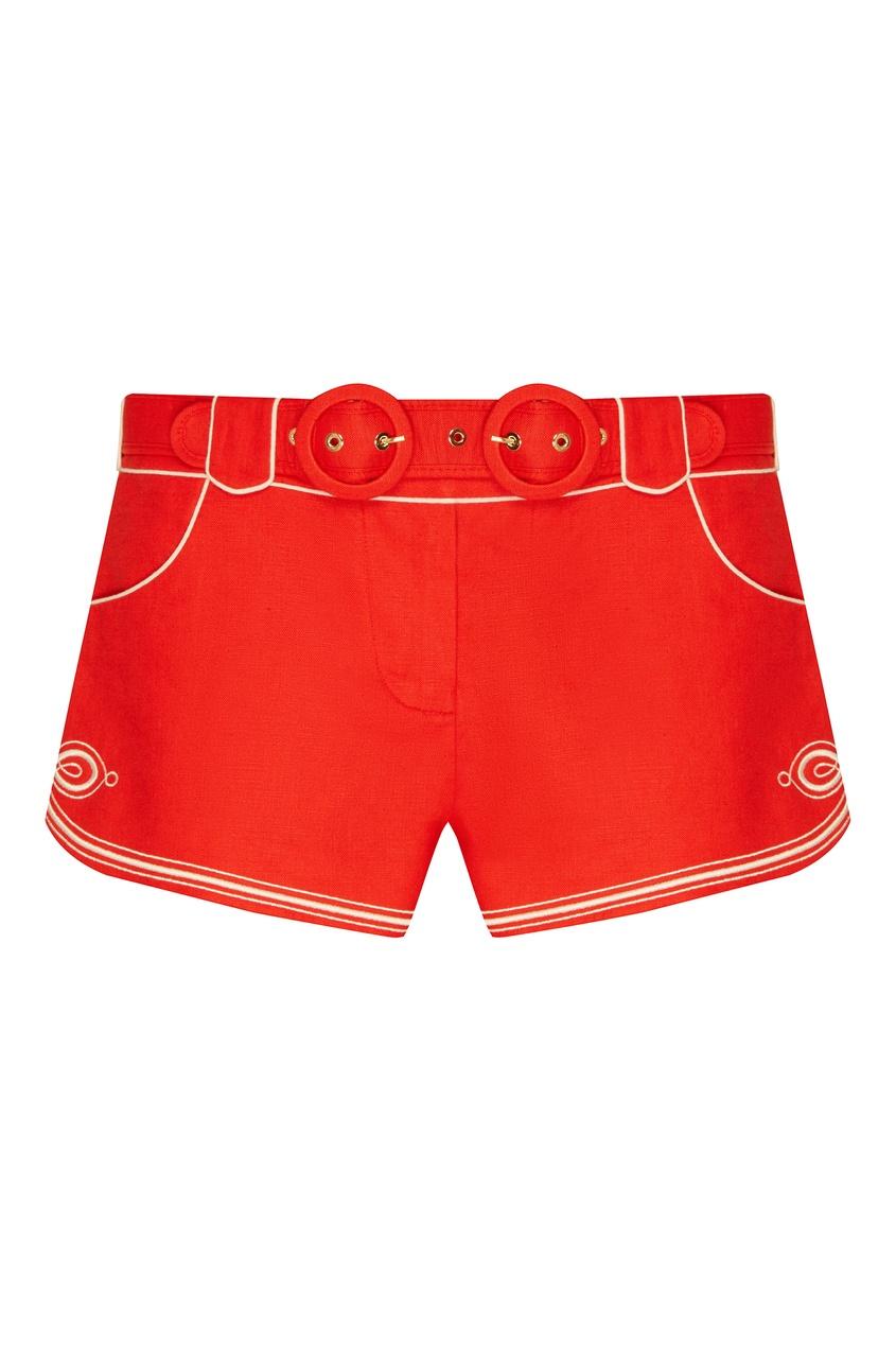 женские шорты zimmermann, красные