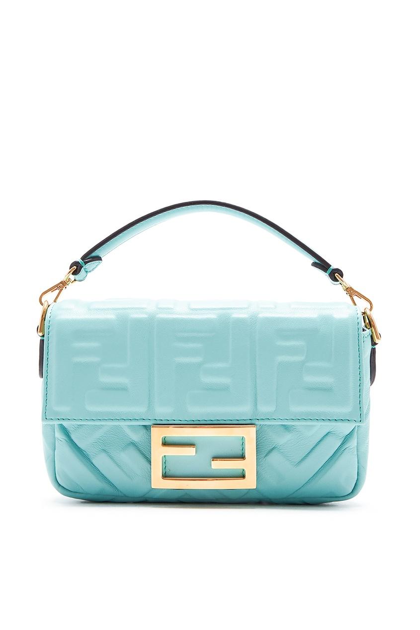 женская сумка fendi, голубая
