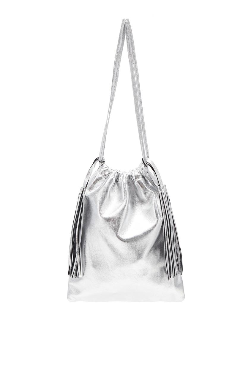 Серебристая сумка Irene Attico 1869148049 Серебряный фото