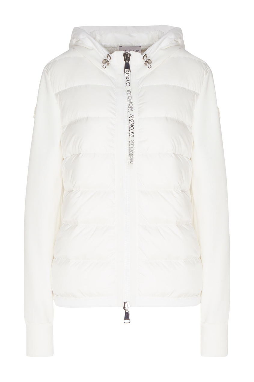 женская куртка moncler, белая