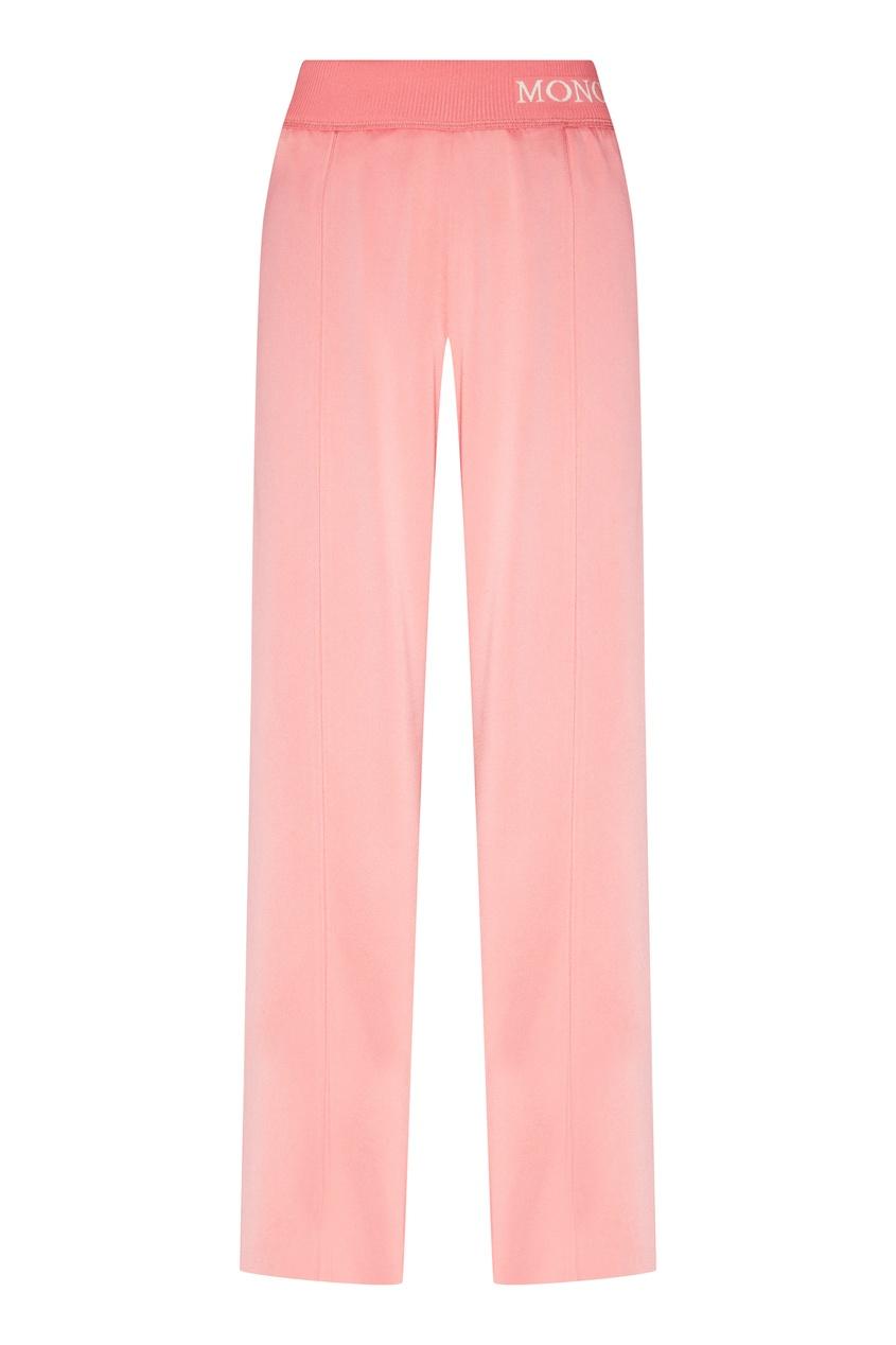 женские брюки moncler, розовые
